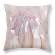 Queen Pink Dahlia Flower Throw Pillow