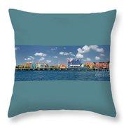 Queen Emma Bridge Open Curacao Throw Pillow