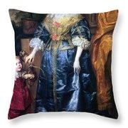Queen Henrietta Maria (1609-69) Throw Pillow