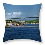 Queen Juliana Bridge  Queen Emma Bridge Curacao Throw Pillow