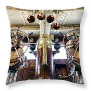 Queen Mary Bridge Throw Pillow