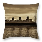 Queen Mary In Sepia Throw Pillow