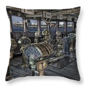 Queen Mary Ocean Liner Bridge 01 Extreme Throw Pillow