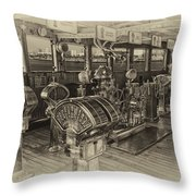 Queen Mary Ocean Liner Bridge 01 Heirloom Throw Pillow