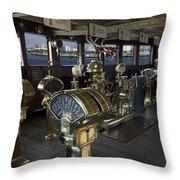 Queen Mary Ocean Liner Bridge 01 Throw Pillow