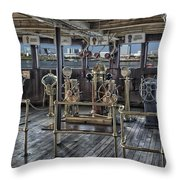 Queen Mary Ocean Liner Bridge 02 Extreme Throw Pillow
