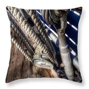 Queen Mary Ship Turnbuckle Throw Pillow