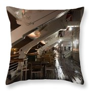 Queen Mary Sun Deck Throw Pillow