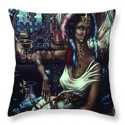 Queen Of Atlantis Throw Pillow