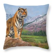 Queen Of Siberia Throw Pillow by David Stribbling