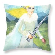 Queen Of Swords Throw Pillow