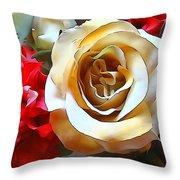 Queen Of The Bouquet Throw Pillow