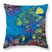 Queen Of The Sea Throw Pillow