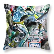 Queen Of The Underground Throw Pillow