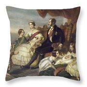 Queen Victoria & Family Throw Pillow