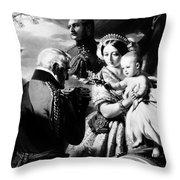 Queen Victoria & Son Throw Pillow