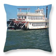 Queen Victoria Ferry Throw Pillow