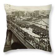 Queen Victoria In Carriage Throw Pillow