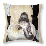 Queenie As An Executive Throw Pillow