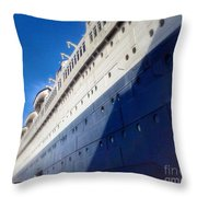Queen's Blue  Throw Pillow