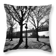 Queens Bridge Park  Throw Pillow