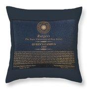 Queen's Campus - Commemorative Plaque Throw Pillow