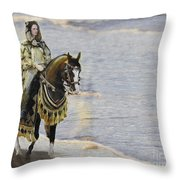 Queens War Horse Throw Pillow