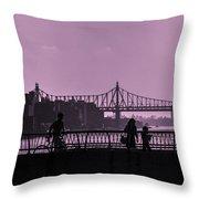 Queensboro Bridge 1 - Manhattan - New York Throw Pillow