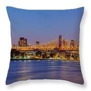 Queensboro Bridge 59th Street Nyc Throw Pillow