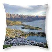 Queenstown Sunset Throw Pillow
