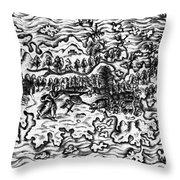 Queiros Voyages, 1613 Throw Pillow