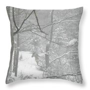 Querida In The Snow Storm Throw Pillow