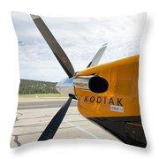 Quest Kodiak Aircraft Throw Pillow