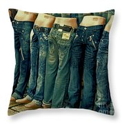 Queued Selling It Throw Pillow