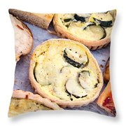 Quiches Pizza And Breads Throw Pillow