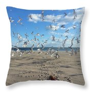 Quick Fly Away Throw Pillow