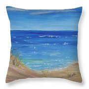 Quick Seascape 1 Throw Pillow