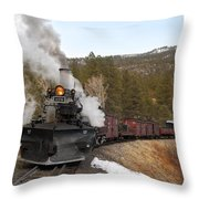 Quick Stop On The Line Throw Pillow