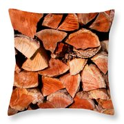 Quick Trick Wood Stack Throw Pillow