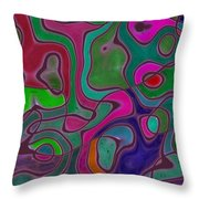 Quiet Abstraction Throw Pillow