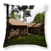 Quiet Cabin On A Hill Throw Pillow