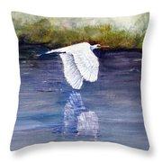 Quiet Flight Throw Pillow