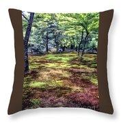 Quiet Forest Throw Pillow