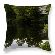 Quiet Lake In The Berkshires Throw Pillow