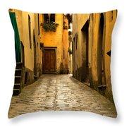 Quiet Lane In Tuscany 1 Throw Pillow