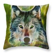 Quiet Majesty - Square Fractalized Version Throw Pillow