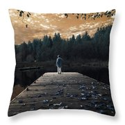 Quiet Moments Series Throw Pillow