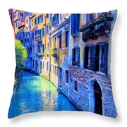 Quiet Morning In Venice Throw Pillow