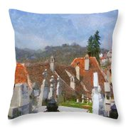 Quiet Neighbors Throw Pillow