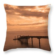 Quiet Peachy Toned Pier Throw Pillow